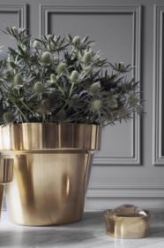 Flower Pot, Brushed Brass