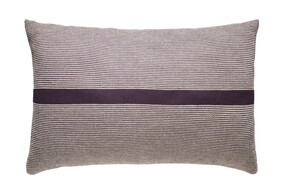 Purple Stripe Cushion 38x58