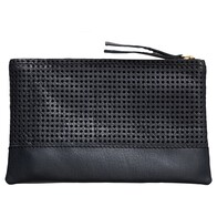 Black Leather Accessories Bag