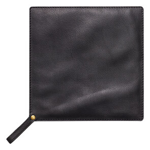 Black Leather Pot Holder
