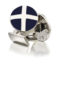 The Cross Cufflinks - Silver Plated Brass