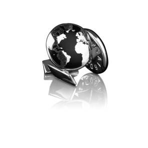 The World Cufflinks - Silver Plated Brass