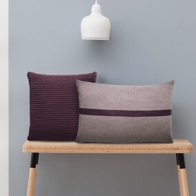 Purple Fuss Square Cushion 45x45