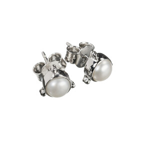 Darling Pearl Earrings - Sterling Silver