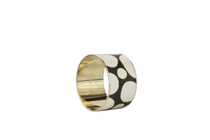 Dot Pattern Bangle - 18ct Gold