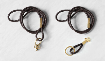 The Keychain - Brown Leather & Gold