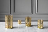 The London Collection Candle Holders, Brass