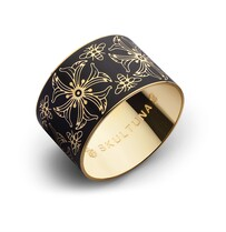 Flower & Bee Bangle - Black